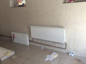 Установка радиаторного отопления
