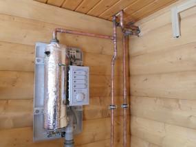 Электро дровяное отопление коттеджа