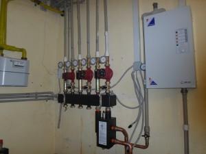 Монтаж газового отопления загородного дома