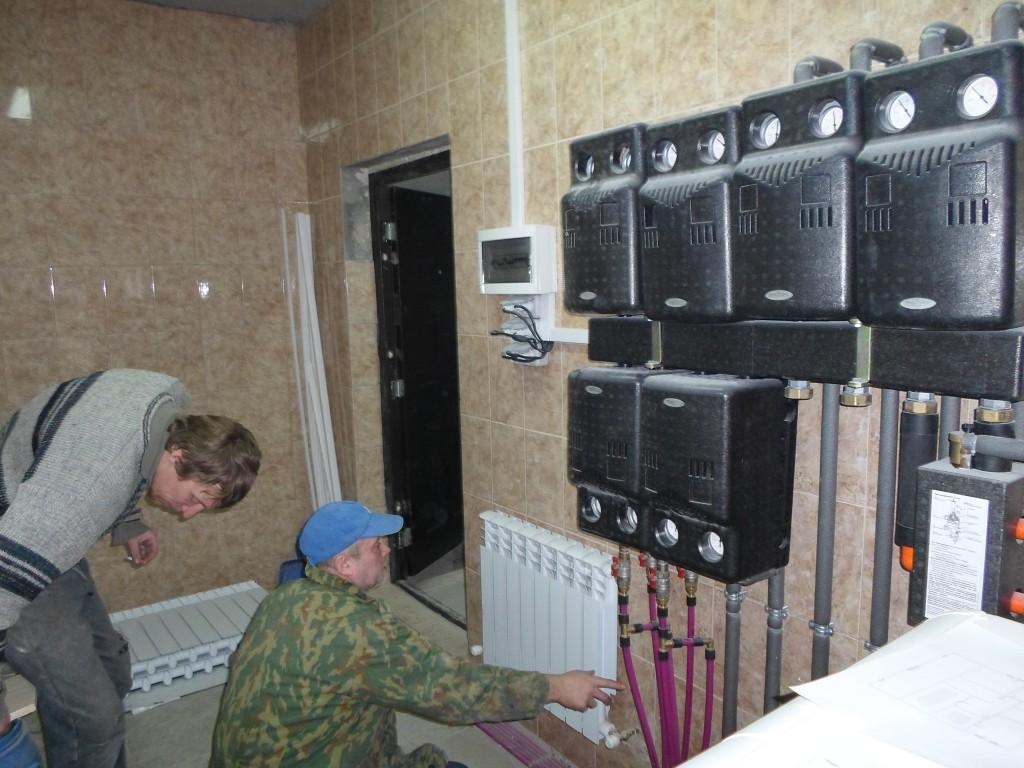 Замена радиаторовв коттедже