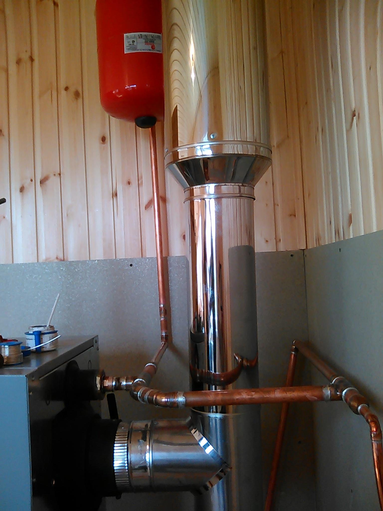 Система водяного отопления на даче
